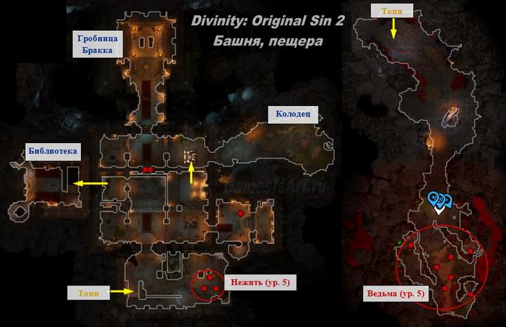 Divinity Original Sin 2. Карта: Башня короля Бракка