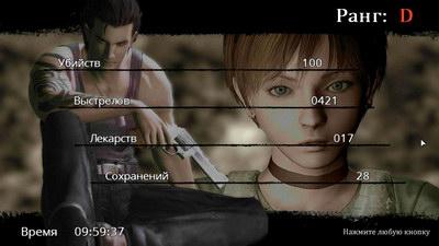 Resident Evil 0. Рейтинг прохождения игры