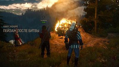 Witcher 3: Wild Hunt. Пейзаж после битвы