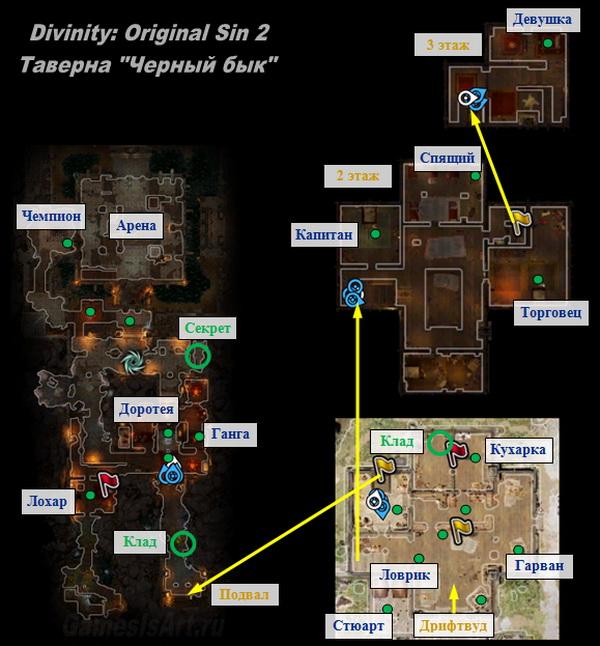 Divinity Original Sin 2. Карта: Таверна Черный бык