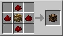 Рецепт. Лампа (Redstone Lamp)
