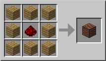 Рецепт. Музыкальный блок (Note Block)