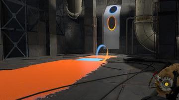 Portal 2. Три геля — комната