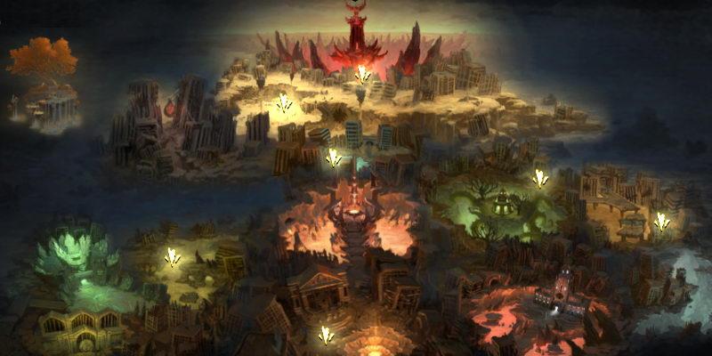 Darksiders: Wrath of War. Расположение осколков Клинка Армагеддона